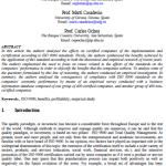 Effects of ISO 9000 certification on companies' profitability: an empirical study