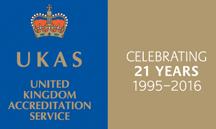 ukas-21-year-logo